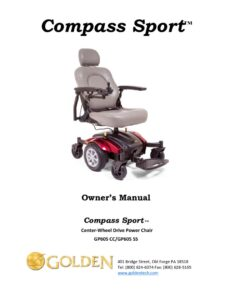 thumbnail of 2. Golden Owners Manual – Compass Sport GP605 Power Wheelchair