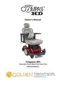 thumbnail of 3. Golden Owners Manual – Compass HD GP620 Power Wheelchair